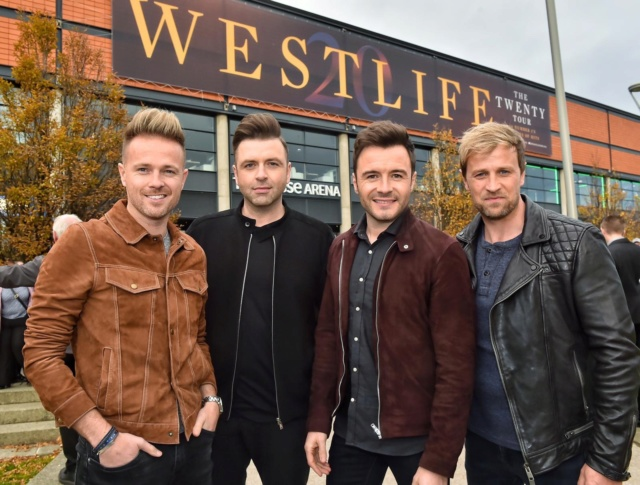 Westlife's Press Conference in Belfast 00-310