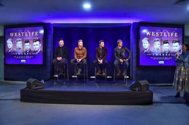 Westlife's Press Conference in Belfast 052910