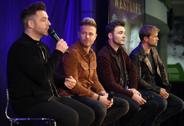 Westlife's Press Conference in Belfast 062310