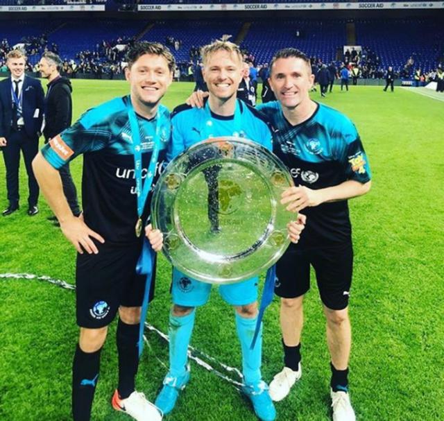 Nicky Byrne comparte con sus tres hijos después de Soccer Aid 2019 0_nick15