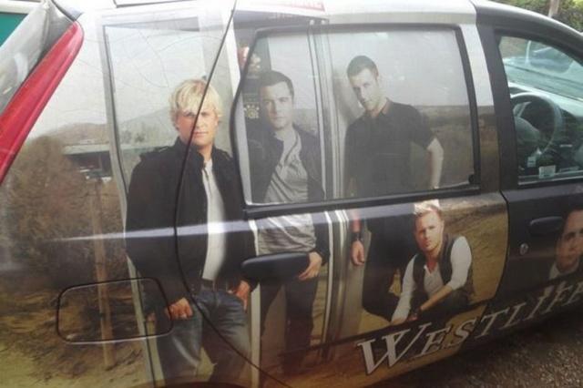 Fiat Punto inspirado en Westlife mientras la banda se prepara para iniciar la gira de reunión 1_west10