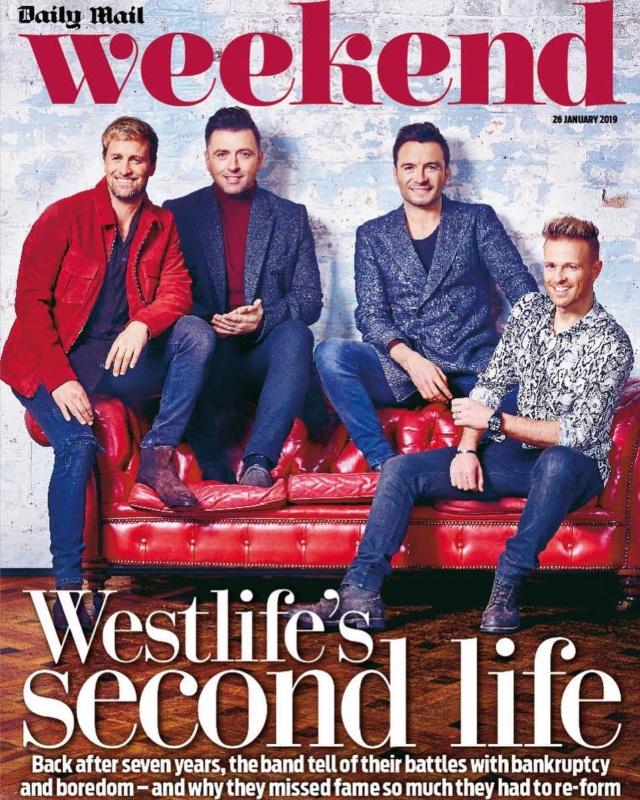 Westlife en la portada de Weekend Magazine 50042510