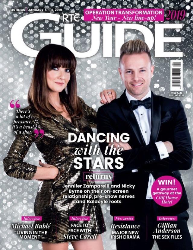 Nicky y Jennifer Zamparelli en la portada de RTE Guide Dv5gi910