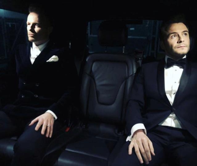 Westlife en la alfombra roja de los NTA Awards Dxihrk10