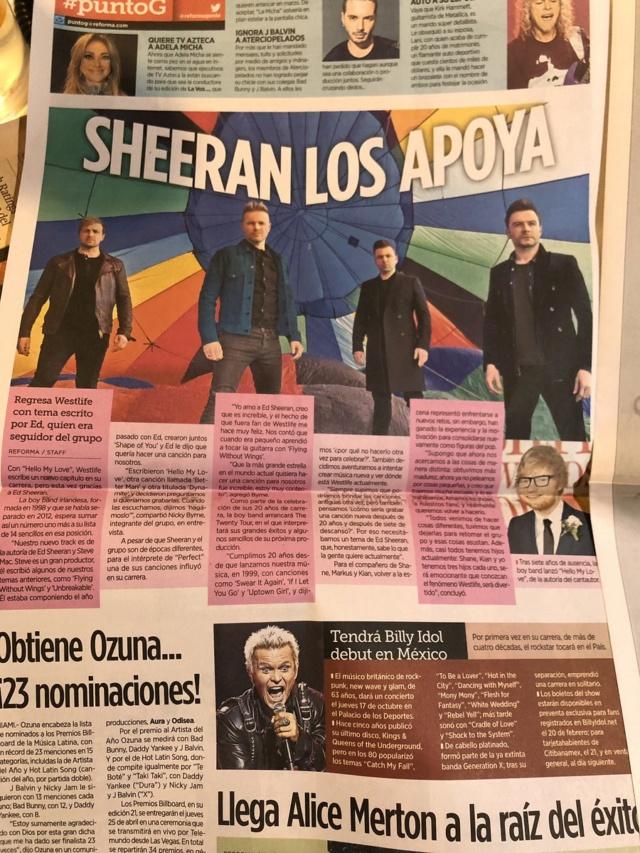 Westlife scan del periódico Reforma  Dzufne10