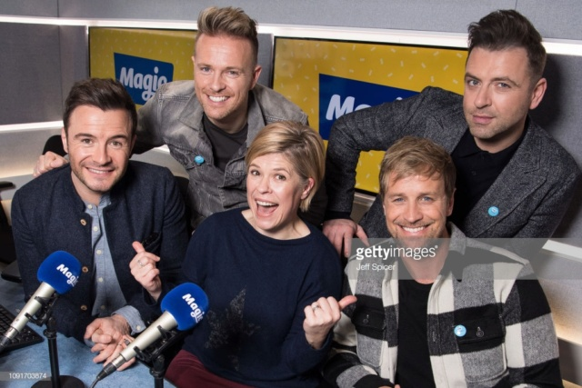 Westlife en Magic Radio Gettyi10