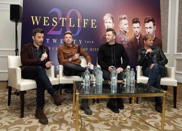 Westlife Press Conference InterContinental - 23.10.18 Westli16