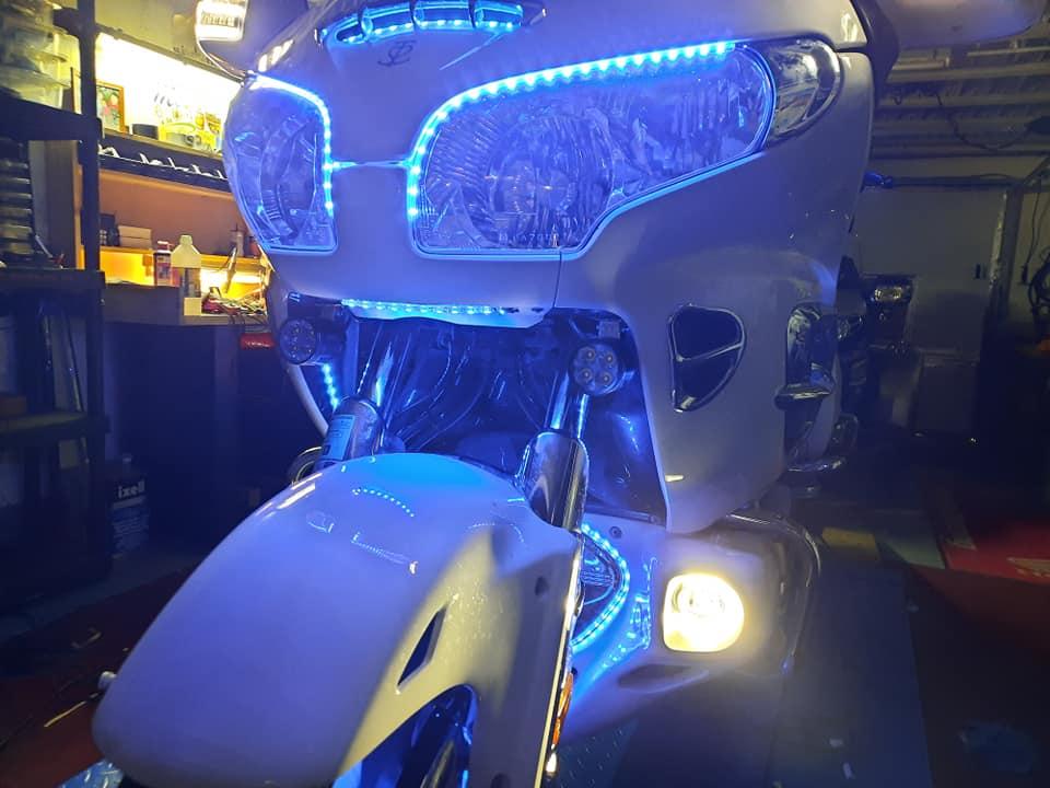 Liserets réfléchissants pour moto Goldwi10