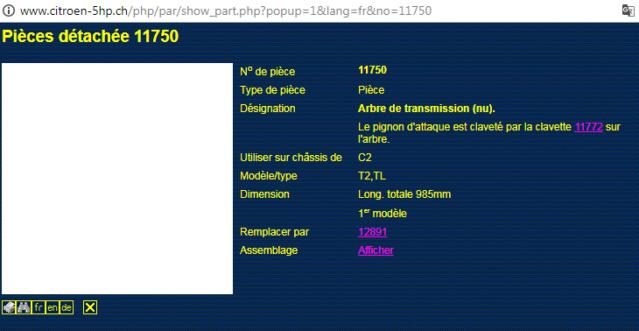 Arbre de tramsmission CC   1175011
