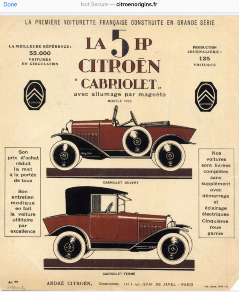 Brochure Cabriolet... et couleurs 50670410