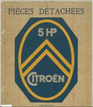 Divers manuels Citroën et catalogue pièces détachées 5HP 5hp11