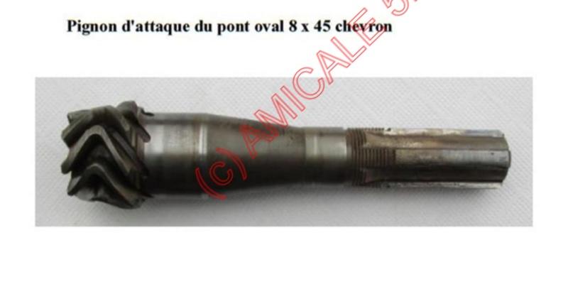 pignon d'attaque de pont oval B5466610