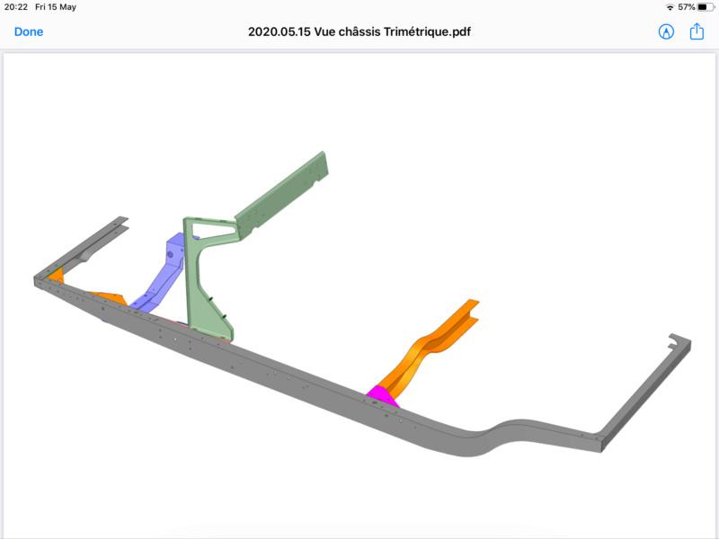 Position réservoir châssis C3 Bac67510