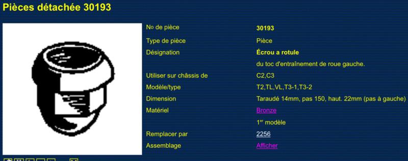 Ecrou de roue / Ecrou a rotule ( N° 30193 Gauche et n° 30192 Droite )  Ecrou_15