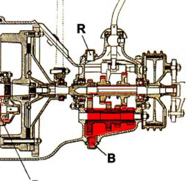 Passage d'huile de boite dans la cloche d'embrayage F4c85410