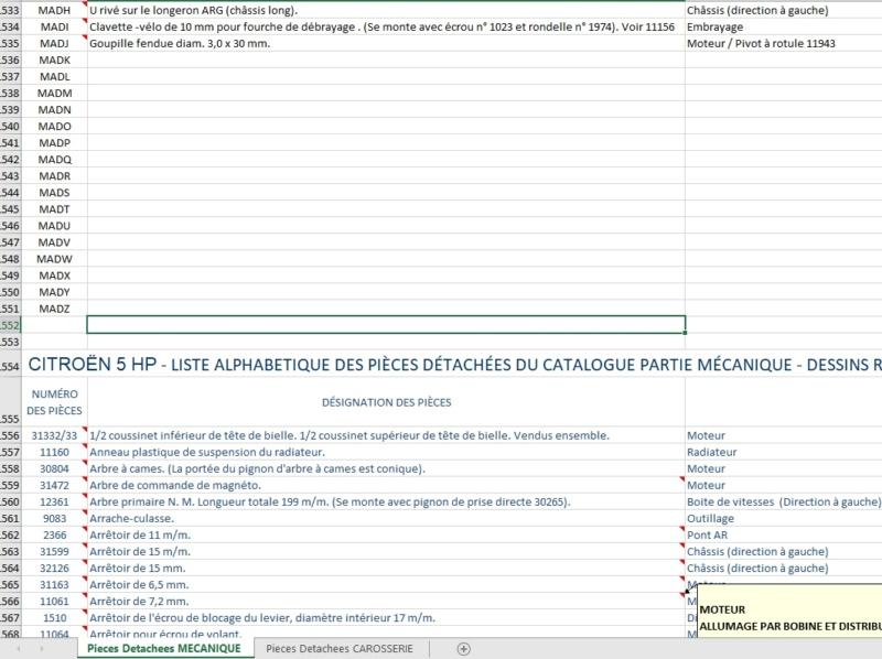 Tableau Excel des pièces détachées Ph Burnier Phot_p11