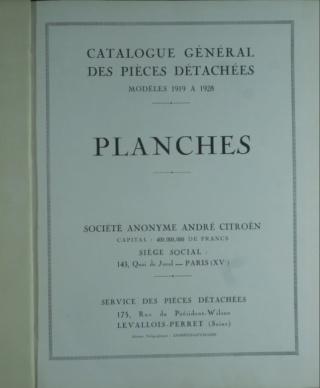 Divers manuels Citroën et catalogue pièces détachées 5HP Planch11