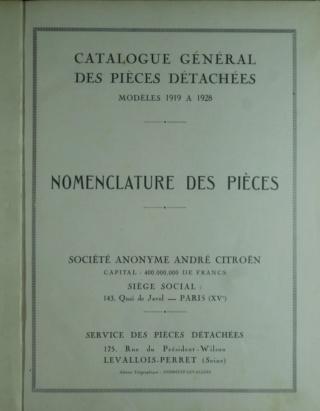 Divers manuels Citroën et catalogue pièces détachées 5HP Texte11