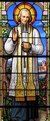 Le sacerdoce, c'est l'amour du Coeur de Jésus (Saint Curé d'Ars) Vitrai10