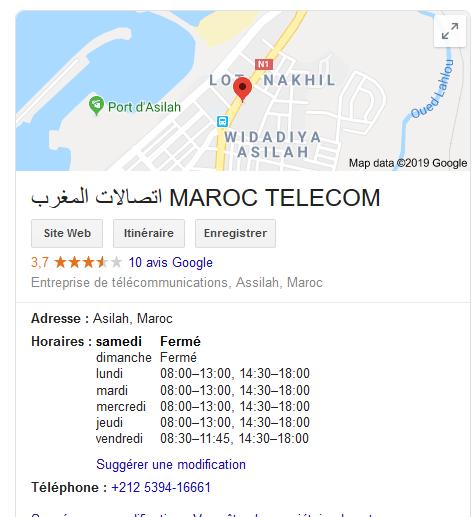 [Maroc/Internet, WiFi, Tel] Ouverture de l'agence Maroc télecom d'Asilah le samedi ? Captur14