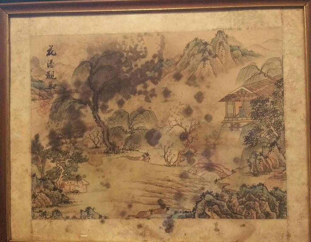 peinture sur soie avec taches de moisissure 2019-121