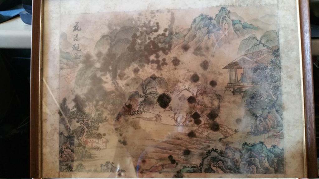 peinture sur soie avec taches de moisissure 20191253