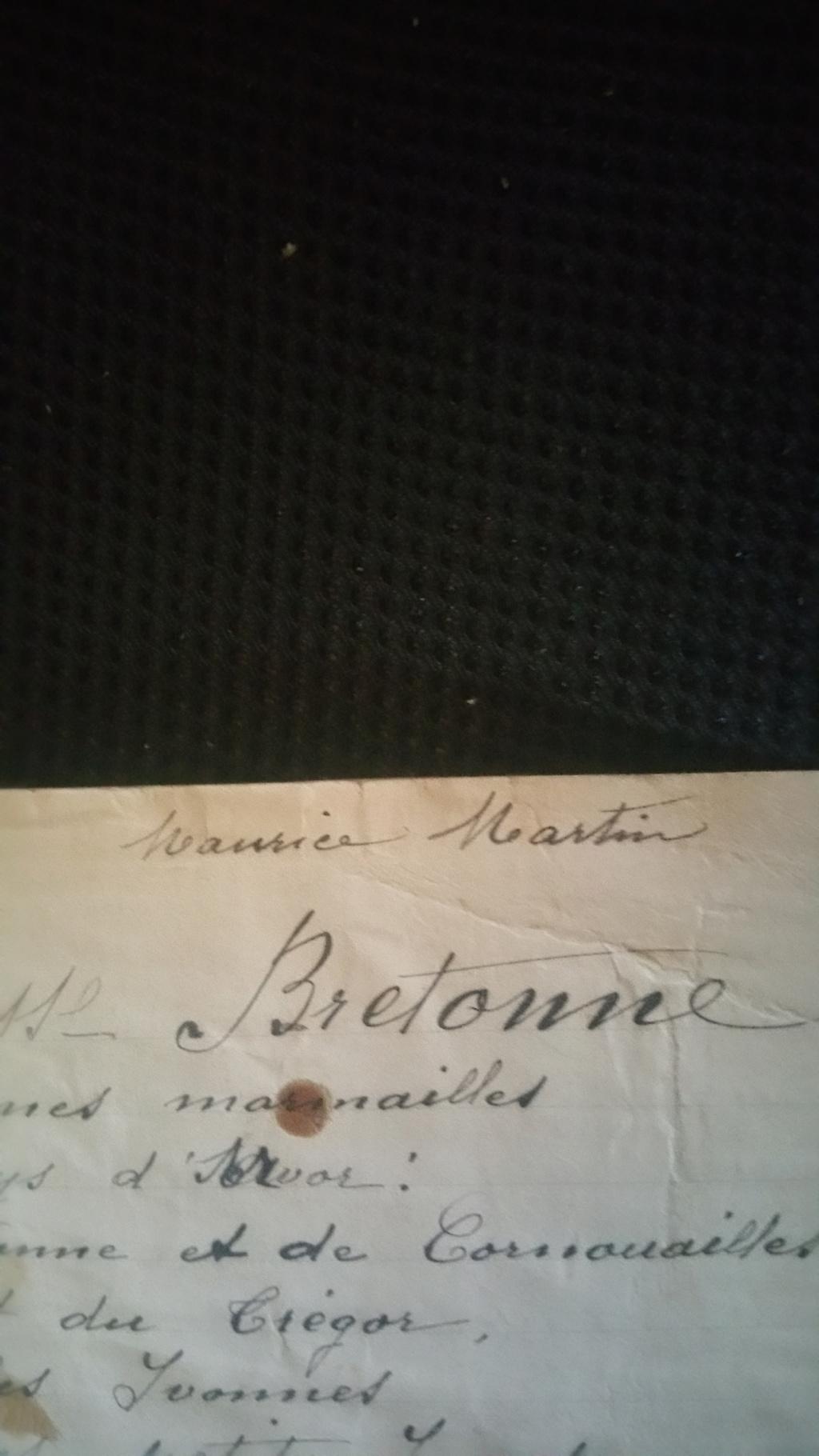 manuscrit chant ou poésie de Maurice Martin 20200143