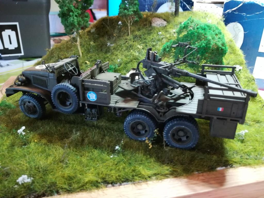 Camion GMC équipé d'un canon de 40 m/m Bofors - marque HOBY BOSS - échelle 1/35 TERMINE. - Page 2 Img_2154