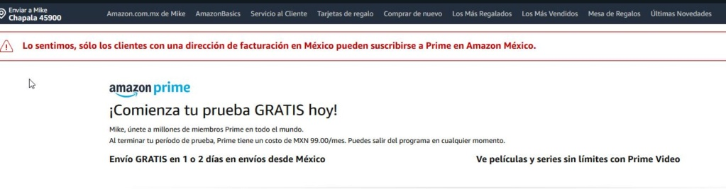 Amazon Mexico and Prime and credit cards Amazon10