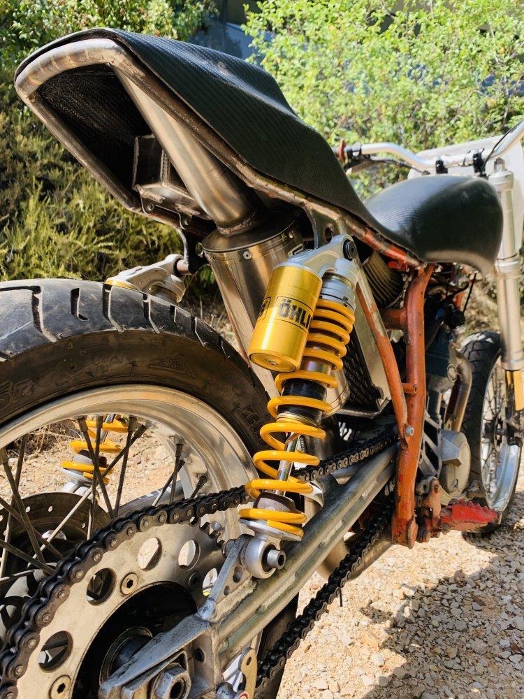 Mes pétoires KTM flat + Ducati café  Ktm110