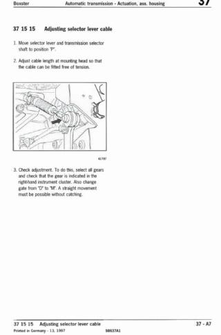 Fixation câble boite vitesse Tiptronic 986 1997 Tiptro10