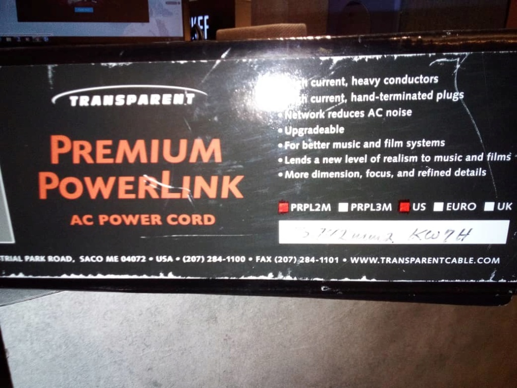 Transparent Premium Powerlink Ac Powercord 10924910
