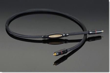 Transparent RCA cable 1mlurc10