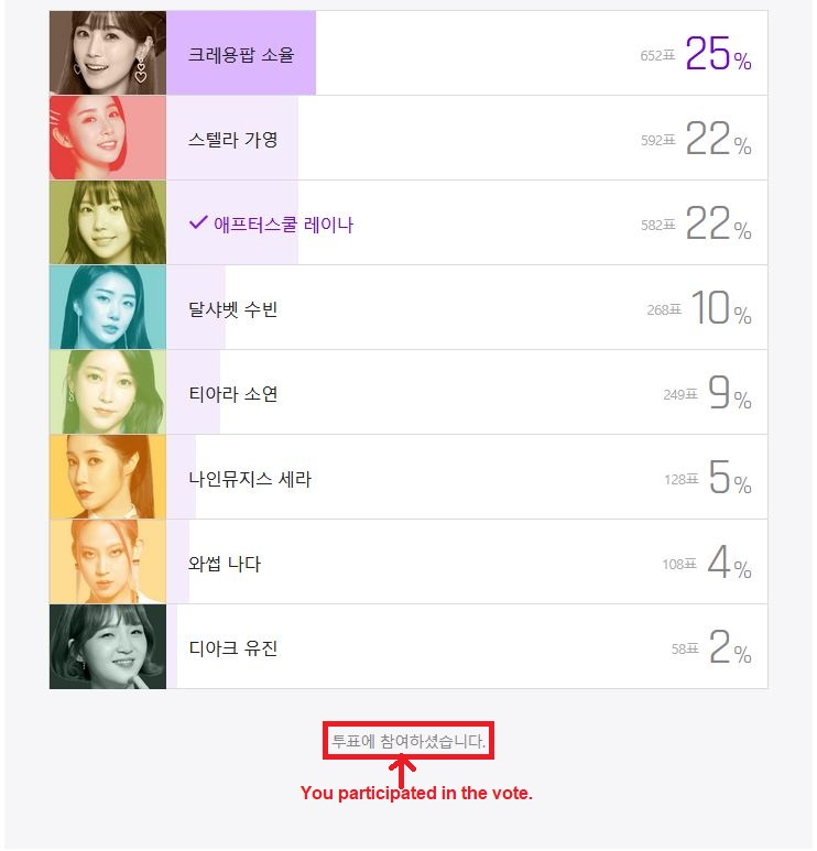 """[TUTORIAL] How to Vote for Raina in """"What is the most anticipated'Miss Back' idol singer?"""" F710"""