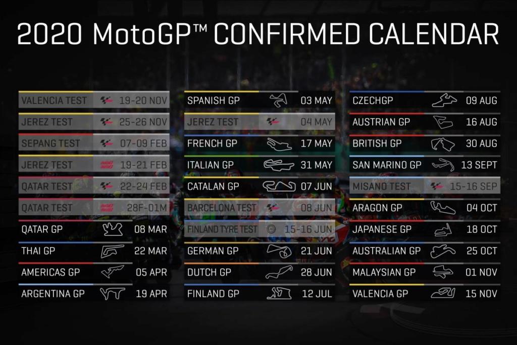 Calendrier MotoGP 2020 / Liste des engagés Cover-10