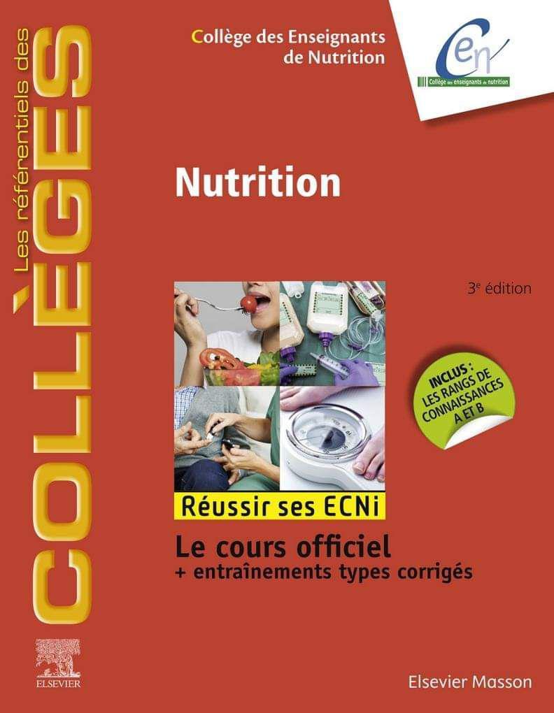 Nutrition (octobre 2019)    Réussir Les Ecni - college Des Enseignants de Nutrition (2019) Photo_14