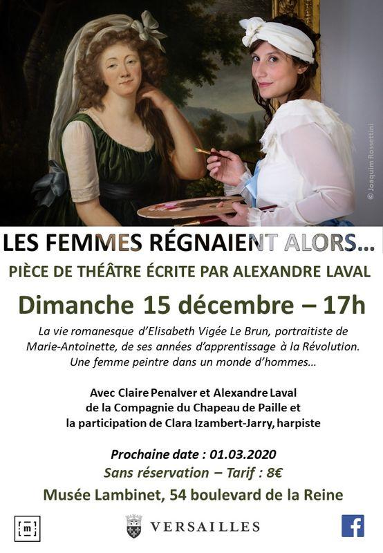"""Théâtre  """" Les femmes régnaient alors ... """"   Elisabeth Vigée Le Brun 1040"""