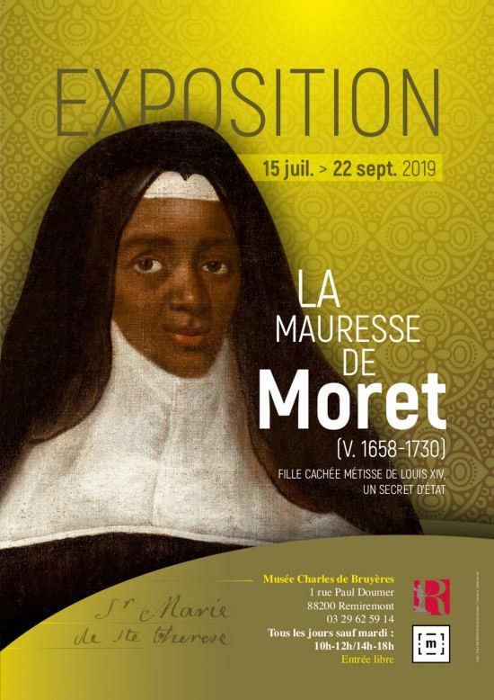 Exposition à Remiremont, Mauresse de Moret : une religieuse métisse, fille cachée de Louis XIV ?... jusqu'au 28 décembre 1373