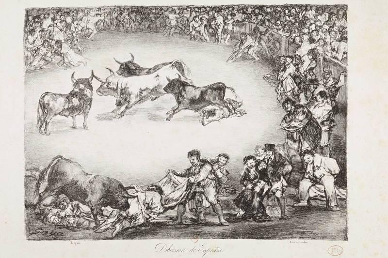 Des combats de taureaux à Paris, fin XVIIIème 1400