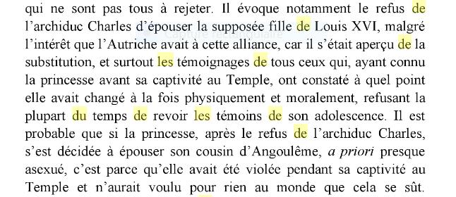 """Madame Royale fut-elle """" brutalisée """" dans sa prison du Temple ?  146"""