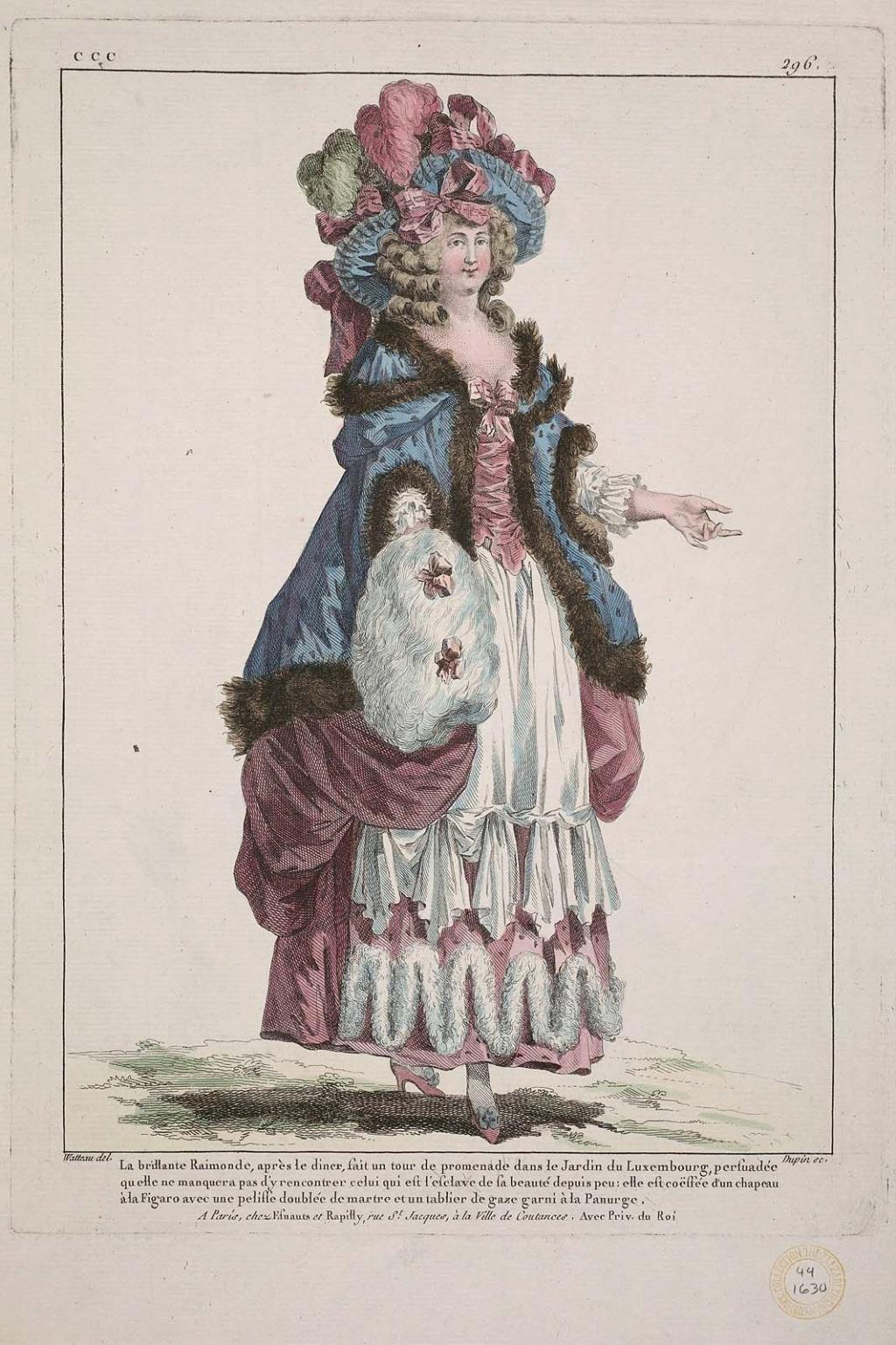 Galerie de portraits : Le manchon au XVIIIe siècle  - Page 3 1542