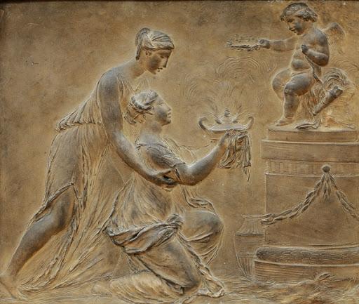Le sculpteur Claude Michel, dit Clodion  (  1738 - 1814 ) 1826