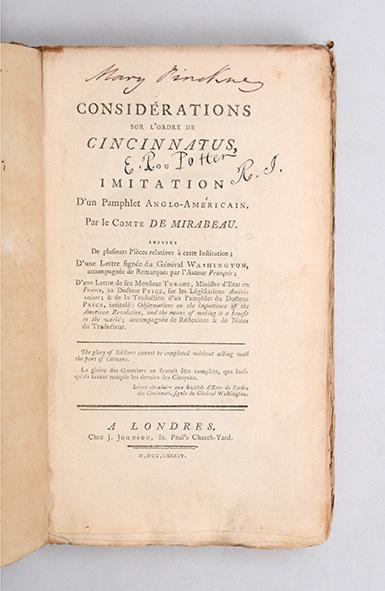 L'Ordre de Cincinnatus & la Société des Cincinnati 21123010