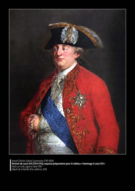 L'« Hommage à Louis XVI », oeuvre aujourd'hui disparue,  du peintre Lemonnier. 2278