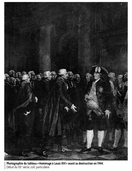 L'« Hommage à Louis XVI », oeuvre aujourd'hui disparue,  du peintre Lemonnier. 2279