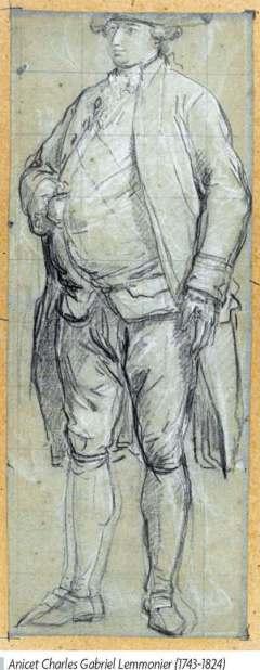 L'« Hommage à Louis XVI », oeuvre aujourd'hui disparue,  du peintre Lemonnier. 2280