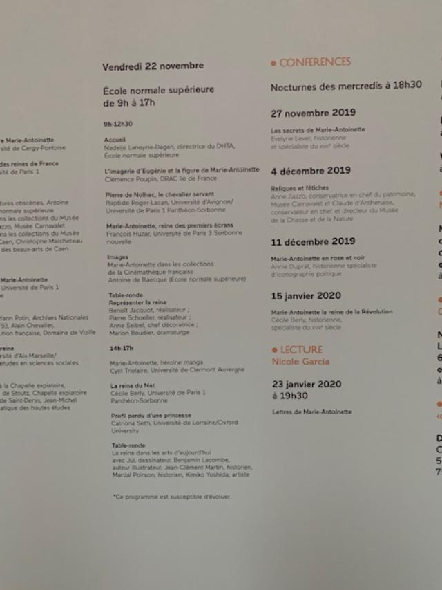 Colloque international Marie-Antoinette - 20 / 21 / 22 Novembre 2019 3_jfif20