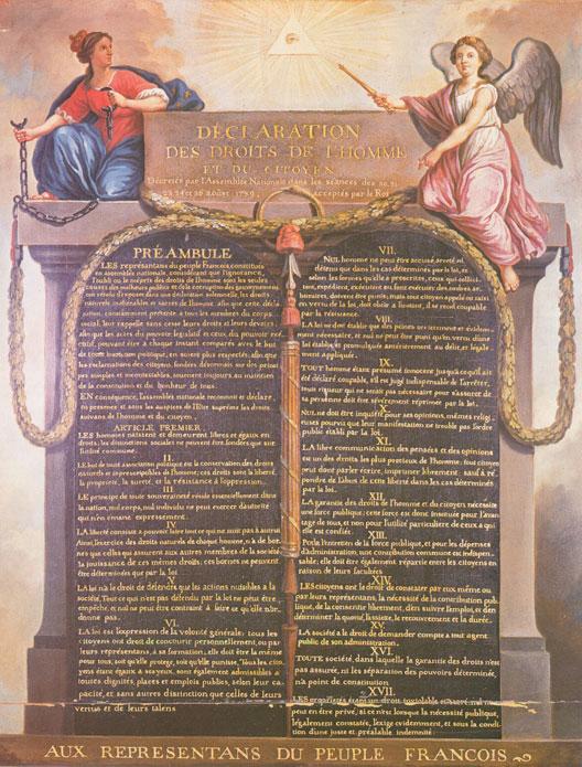 La Déclaration des Droits de l'Homme et du Citoyen 4131