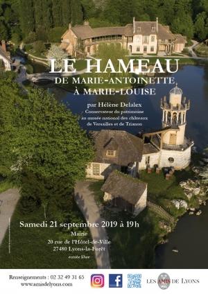 """Conférence """"Le Hameau, de Marie-Antoinette à Marie-Louise"""" - Journées du Patrimoine 2019 4155"""