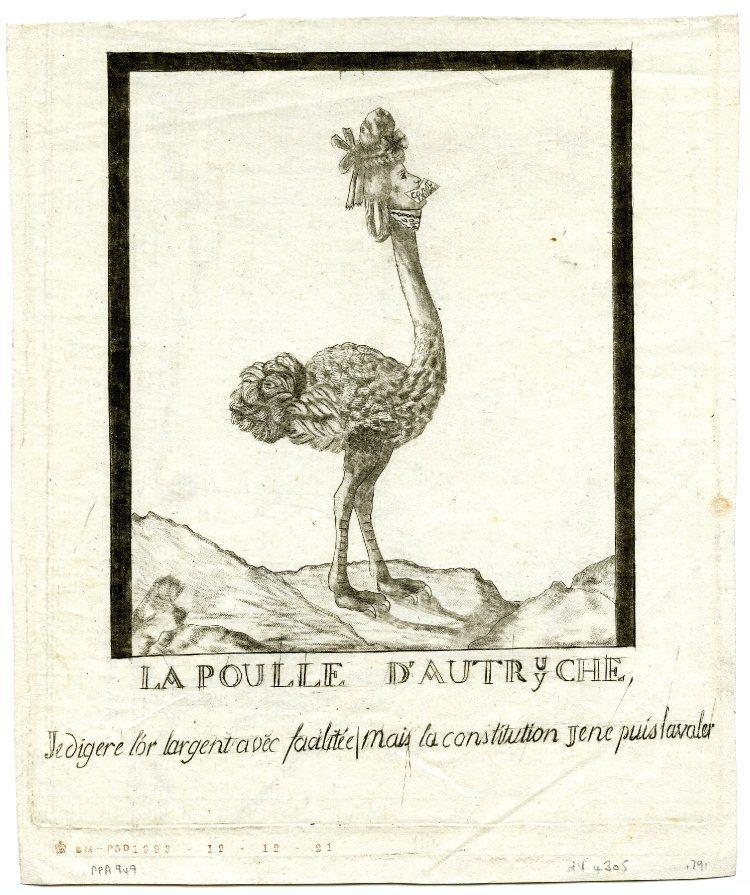 Marie-Antoinette, caricaturée en architigresse ou panthère autrichienne 768